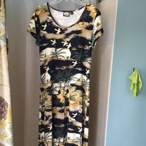 Tommy Bahama Beach Print Cotton Sun Dress Maxi